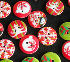 Christmas Buttons Embellishments for Crafts 20mm Resin / Plastic 25/50/75