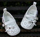 Baby Girl White Floral Mary Jane Dress Shoes Newborn Sandals US Size 1 2 3