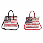 Floral Patterns United State of America Flag Tote(DH011) (B22-2)