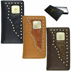 Lonestar Men's Tooled Leather Wallet Checkbook Free Shipping (803 WAL)