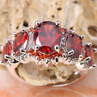 Superb Red Garnet GEMSTONES Silver Jewelry Ring Size6 /7 /8 /9 T7160