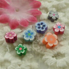 Free Ship 630 pcs colorful polymer clay flower spacers 8-10mm ZH1086
