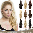 """OneDor 20"""" Long Curly Hair Synthetic Claw Clip Drawstring Ponytail Extensions"""