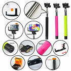 Built-in Bluetooth Extendable Shutter Remote Selfie Stick Monopod for iPhone HTC