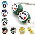 1pc Colorful Lampwork Glass Face Flower European Bead Fit Snake Charm Bracelet