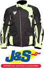 FRANK THOMAS FTW702 MERCURY MOTORCYCLE JACKET MOTORBIKE ENDURO HI VIZ YELLOW J&S