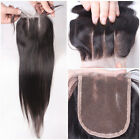 "7A 4""x4"" Straight Brazilian Virgin Remy Top Lace Closure 3 way part New"