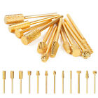 Electric Cylinder Carbide File Drill Bit Golden Nail Art Manicure Pedicure Tool