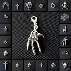 1 Tibetan Silver Gothic Clip On Pendant Charm Emo Punk Buy 2 Get 1 Free (a3)