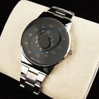 Stainless Silver Band PAIDU Quartz Wrist Watch Colorful Turntable Dial Mens Gift