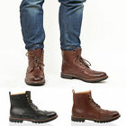 MENS BOYS CASUAL FORMAL LACE BROGUE DERBY OFFICE WORK ANKLE WORKER BOOTS SIZE