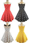 50s Style POLKADOTS & PETER PAN COLLAR Minnie PINUP Fit-N-Flare Dress ~ 4 COLORS