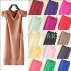 Womens Fashion Candy Color Loose Long Pullover Jumper Sweater Knitwear Tops FOZ
