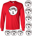 Dr Seuss Thing 1 long sleeve t-shirt Thing 2 shirt Infant Toddler Youth Adult a