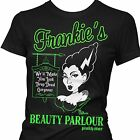 Pinky Star Women's Frankie's Beauty Parlour T-shirt Punk Gothic Retro Rockabilly