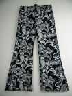 FAB LOOSE FIT NAVY AND WHITE PAISLEY PRINT  TROUSERS SIZE 10 12 14 16 18 20 22