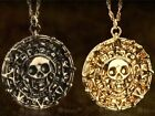 New Pirates Of The Caribbean Necklace Charm Aztec Coin Medallion Skull Pendant