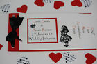 Handmade ALICE IN WONDERLAND cheque book style invitations :60 colours : any qty