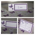 Handmade BUTTERFLY Wedding PLACE CARDS : 3 designs, 60 colours, 20 fonts