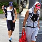 Mens Majestic New York Yankees Hoodies Sleeveless Tracksuit Shorts Gym Pants Hot