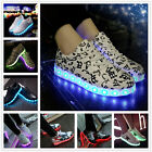 New Unisex LED Light Lace Up Couples Sportswear Sneakers Luminous Casual Shoes