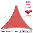 21' x 21' x 21' Triangle Sun Shade Sail Fabric Outdoor Patio Canopy Awning Cover