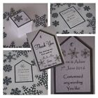 Handmade SNOWFLAKE stationery :TAGS & FAVOURS;5 designs, 60 colours, any qty