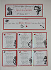 ALICE IN WONDERLAND Wedding:TABLE PLANS&WISH TREE;5 designs/ 60 colours/ any qty