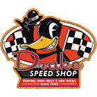 Drake Speed Shop Racing Flags Wall Decal Garage Removable Decor