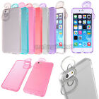 """Cute Bowknot Slim Crystal Gel Clear Soft TPU Case Cover for iPhone 6 Plus 5.5"""""""