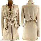 Long Vest Cardigan Cashmere Wool 38/50 beige - VANESSA - Woman Charleselie94
