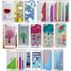 Bling Sparkle Glitter Dynamic Liquid Quicksand Real Flower Case Cover For iPhone