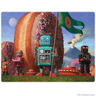 Robot Donut Landing Party 7 Wall Decal Retro Sci-Fi Decor
