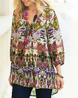 Joanna Hope ETHNIC Paradise Printed Tunic Blouse & Cami CREAM MULTI Size 14 & 20