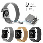Genuine Leather Loop Milanese Magnetic Stainless Watch Band For Apple Watch New