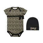 2pcs Infant Baby Toddler Girl Cap Hat+Romper Playsuits Jumpsuit Clothing Outfit