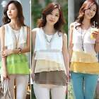 HOT Women Loose Casual Chiffon Sleeveless Vest Shirt Tank Tops Blouse Pullover