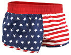 American Flag 4th of July USA Patriotic Women's Printed Mini Shorts