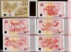 SINGAPORE $10 x 5 Types $50 *Complete Set 2015 POLYMER Commemorative UNC Jubliee