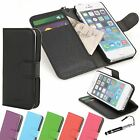 Madcase Premium Textured Leather Wallet Case Cover for Apple iPhone 5 5S
