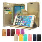 Slim Flip Leather Wallet Case Cover For iPhone / Galaxy S / Galaxy Note / LG