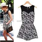 Women Sleeveless Chiffon Casual Party Jumpsuit Rompers Playsuit Vogue S0BZ