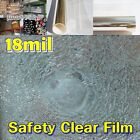 """WIDE:60""""(150CM)/Safety 18Mil Clear Film/Window/Security/Residential/UV/ROLL/Long"""