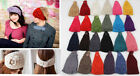 Women Wool Turban Knit Handmade Flower Headbands Head Hoop Hair Band Accessories