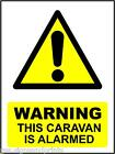 WARNING THIS CARVAN IS ALARMED - PRINTED DECAL STICKER - CHOICE OF SIZES