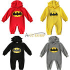 3-12M Outfit Baby Boys Girls Infant Cartoon Batman Bodysuit Xmas Costume Romper