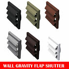"""White Extractor Fan Ducting Wall Gravity Flap Grille Ventilation 4"""" , 5"""" & 6"""""""