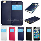 S-VIEW Flip Window Leather Case Cover For Apple iPhone 6 4.7 Air