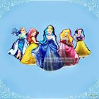Colorful Round Princess's Helium Foil Party Balloon Birthday Decorative Supplies