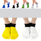 5Pairs Men's Comfortable Sports Breathe Pure Cotton Toe Socks Five Fingers SOCKS